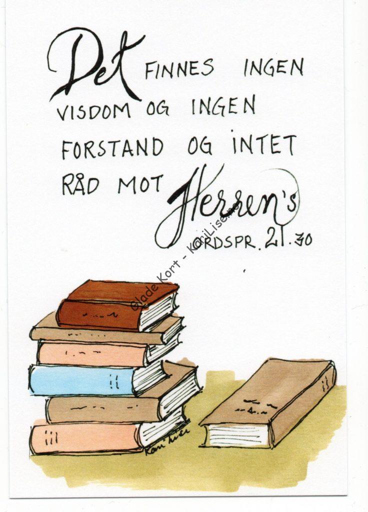 Det finnes ingen visdom og ingen forstand og intet råd mot Herrens